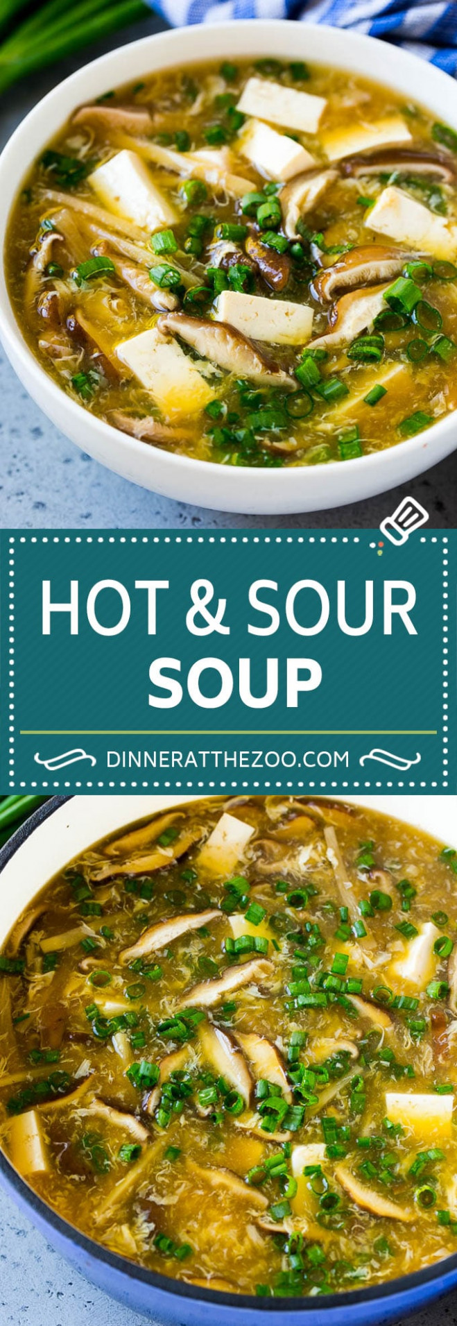 Hot and Sour Soup - Dinner at the Zoo - recipe vegetarian hot and sour soup