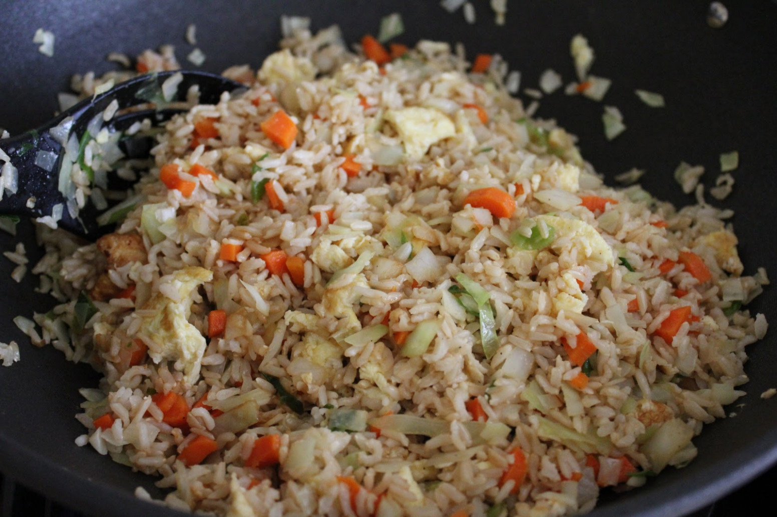 How To Cook Brown Rice - Vegetable Fried Rice And Kimchi ..