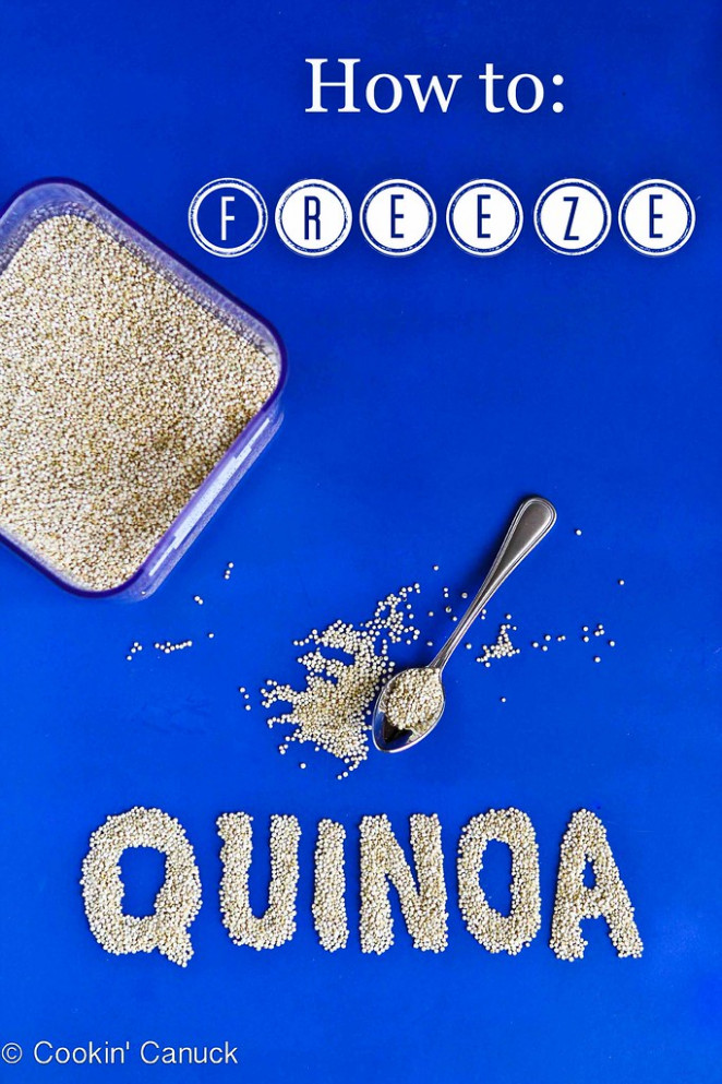 How To: Freeze Quinoa And Quinoa Recipe Link Up #quinoa #healthy - Healthy Recipes To Freeze