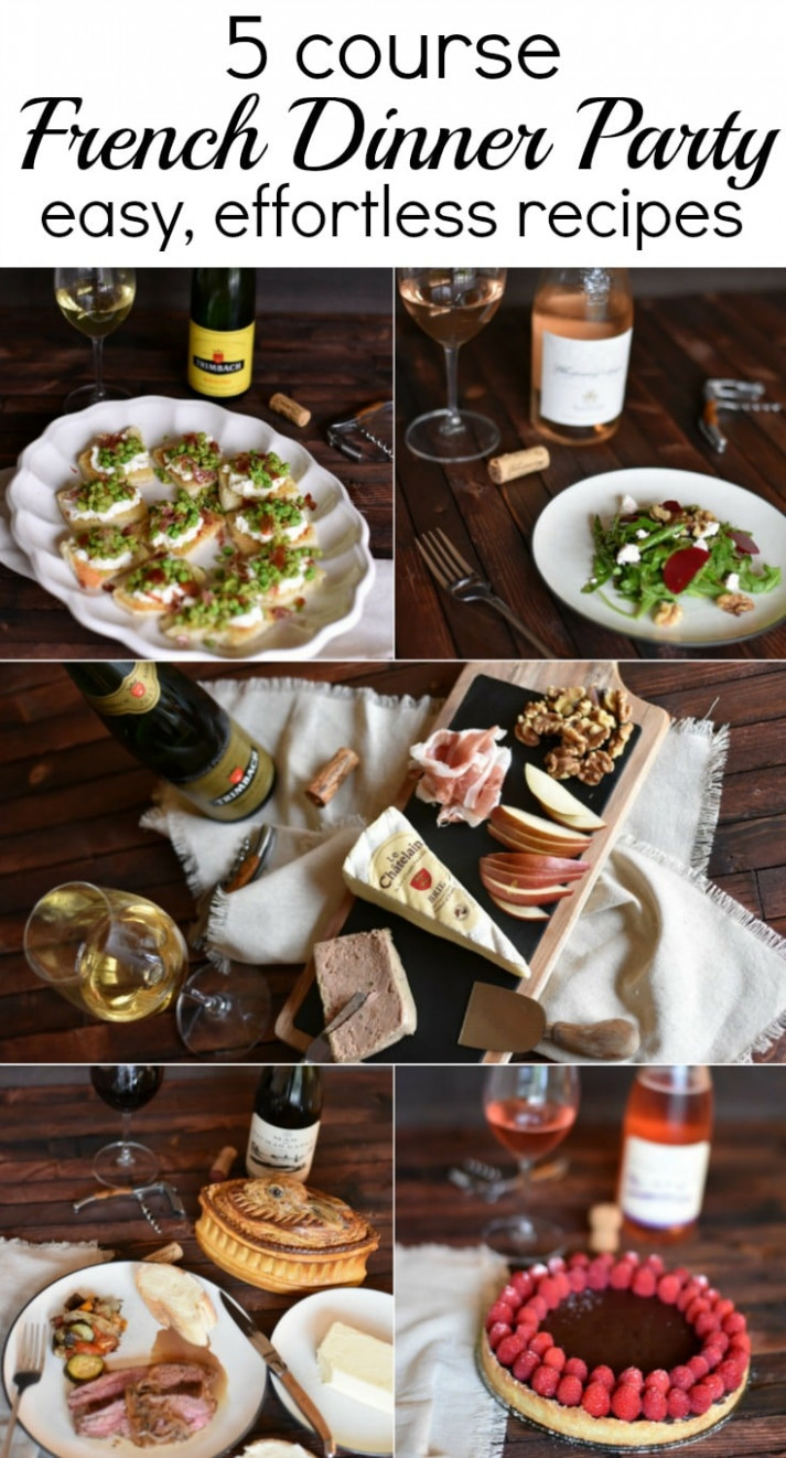 How to host an EASY 5 Course French Dinner Party - The ..
