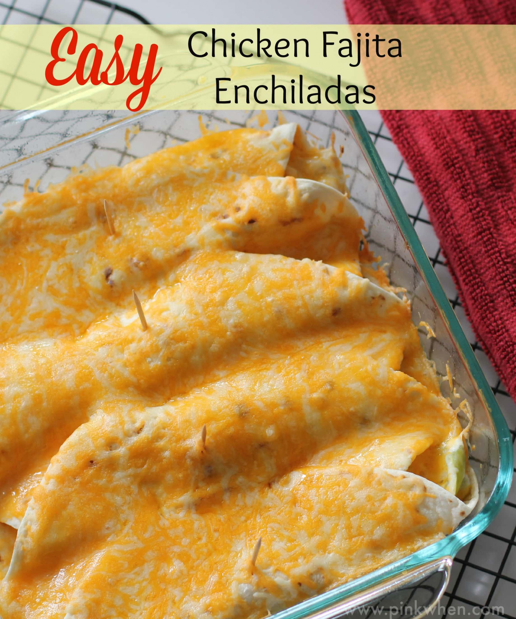 How to Make an Easy Chicken Enchilada Recipe - PinkWhen - chicken recipes quick