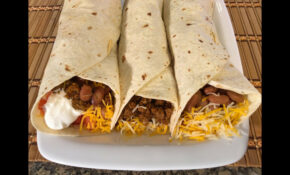 How To Make Burritos Mexican Food Recipes Beef,Beans ..