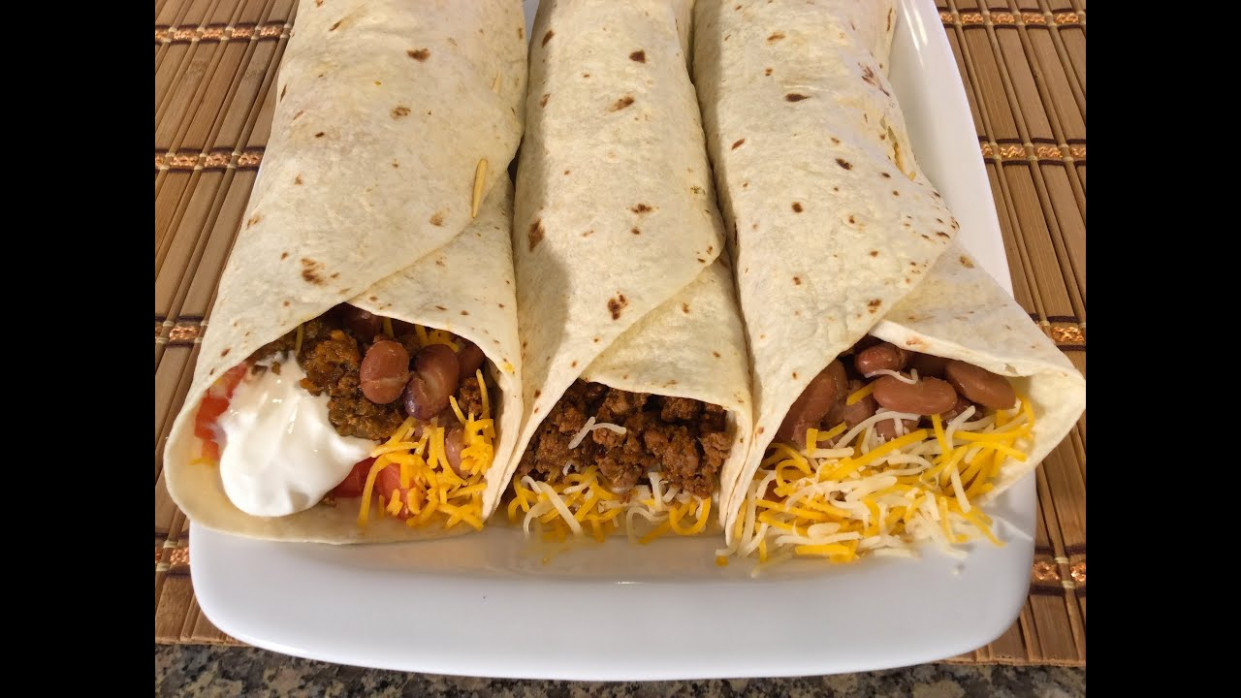 How To Make Burritos-Mexican Food Recipes-Beef,Beans ..