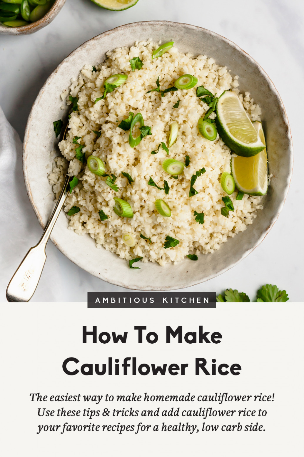 How to Make Cauliflower Rice | Ambitious Kitchen - recipes that use a food processor