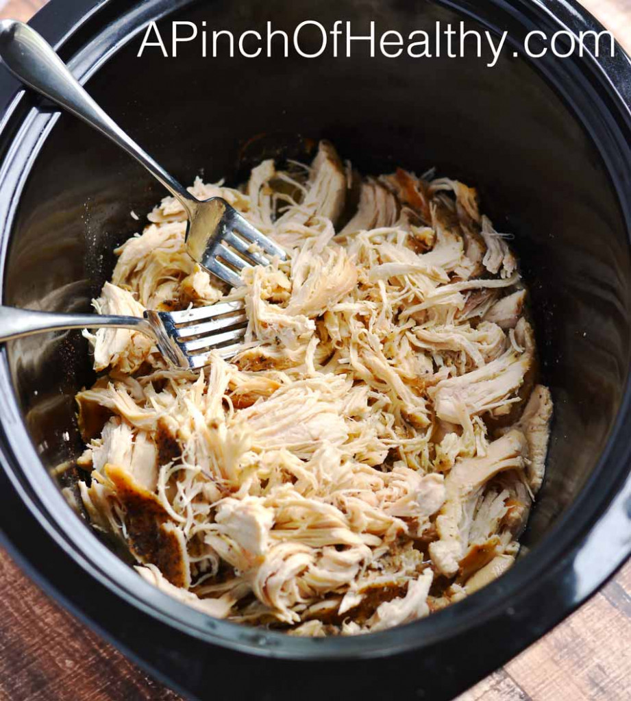 How to Make Easy Shredded Chicken - A Pinch of Healthy - recipes using shredded chicken healthy