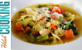 How To Make Vegetarian Minestrone Soup Recipe   Hilah Cooking – Recipe Vegetarian Minestrone Soup