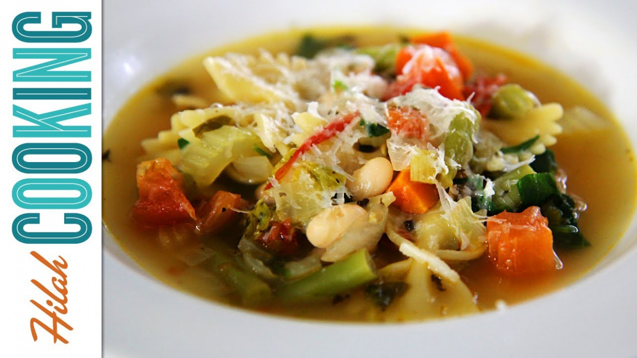 How to Make Vegetarian Minestrone Soup Recipe | Hilah Cooking - recipe vegetarian minestrone soup
