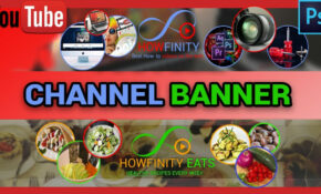How To Make YouTube CHANNEL ART With Photoshop – Healthy Recipes Youtube Channels