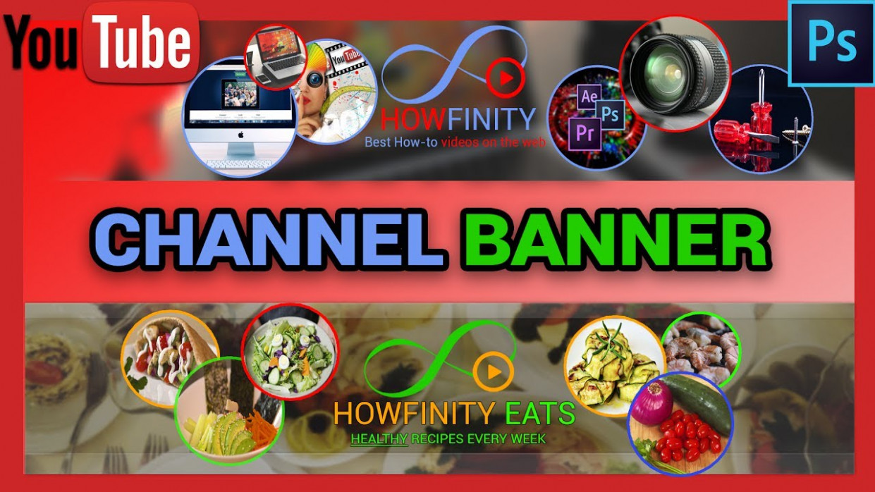 How To Make YouTube CHANNEL ART With Photoshop - Healthy Recipes Youtube Channels