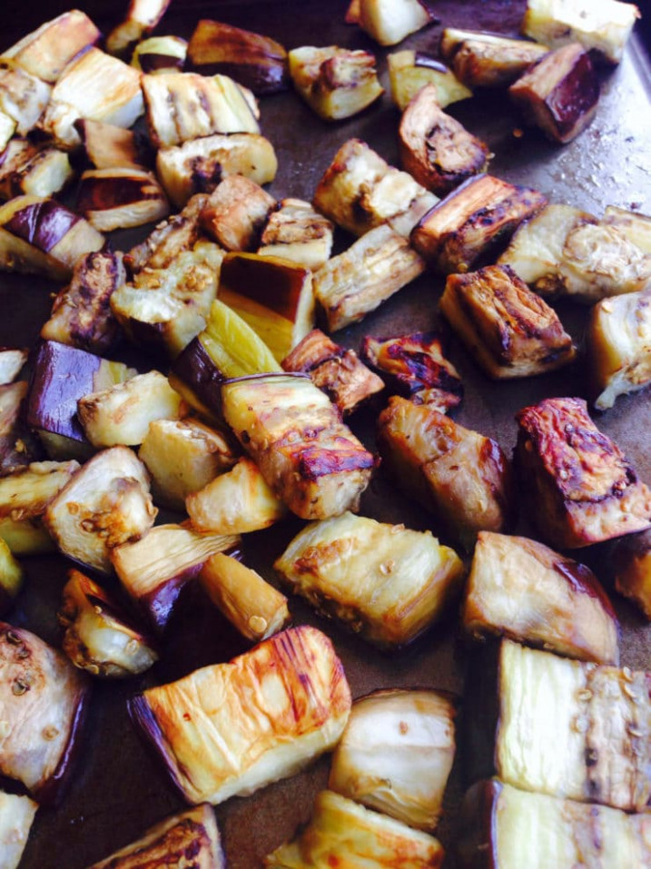 How to Roast Eggplant Cubes - Easy Healthy Tutorial - healthy recipes eggplant