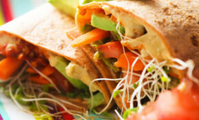 HUMMUS VEGGIE WRAP – Wrap Recipes Vegetarian