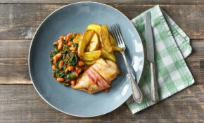 Hunter's Chicken With Potato Wedges And Homemade Baked Beans – Recipes Hunters Chicken