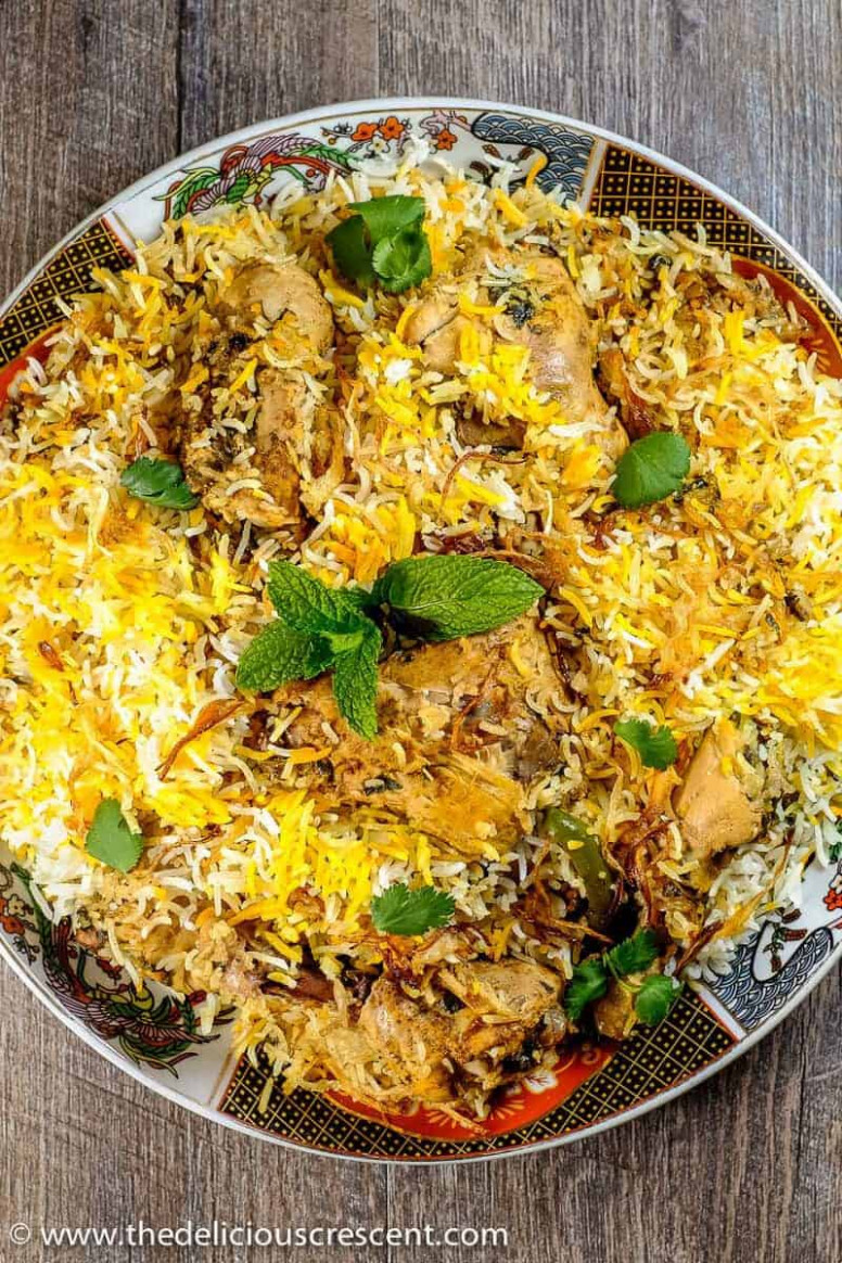 Hyderabadi Chicken Biryani - indian recipes chicken
