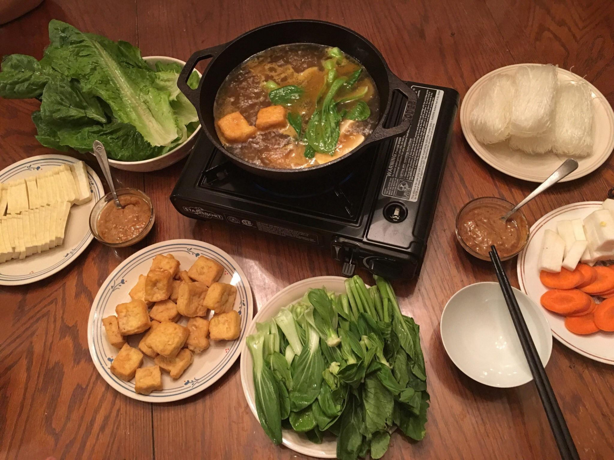 I made vegan hotpot : vegetarian - recipe vegetarian hot pot
