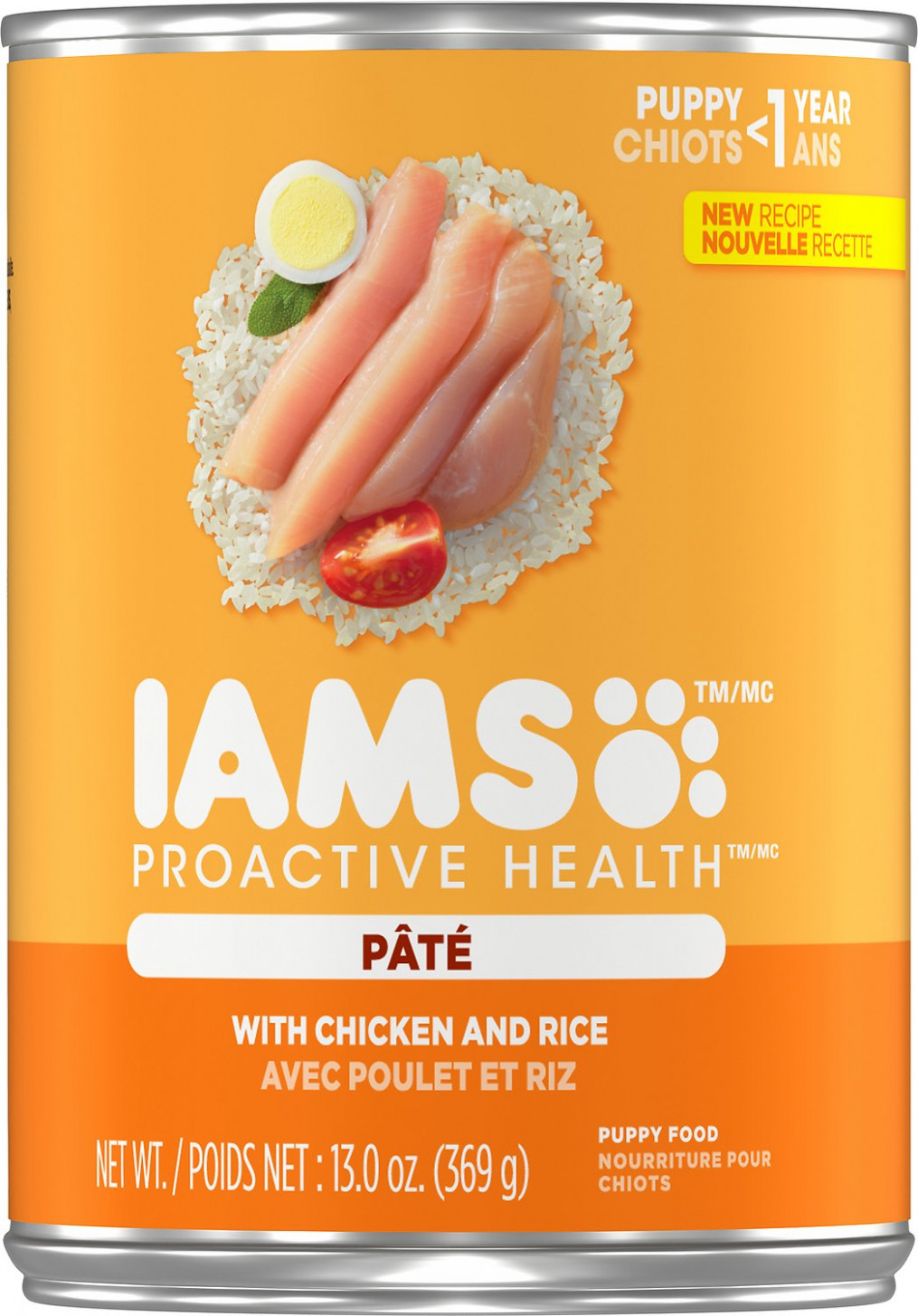 Iams ProActive Health Puppy With Chicken & Rice Pate Canned Dog Food,  11-oz, case of 11 - recipes using only canned food