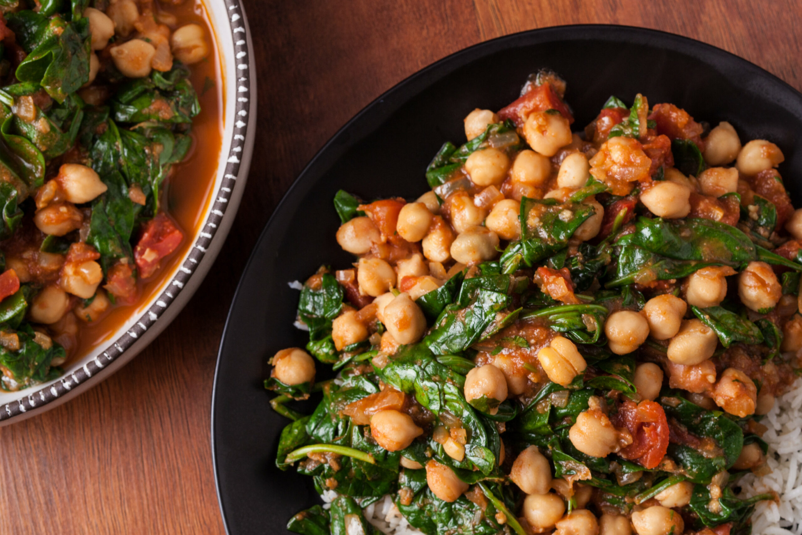 Indian Chickpea Curry With Spinach - Food Recipes Of India
