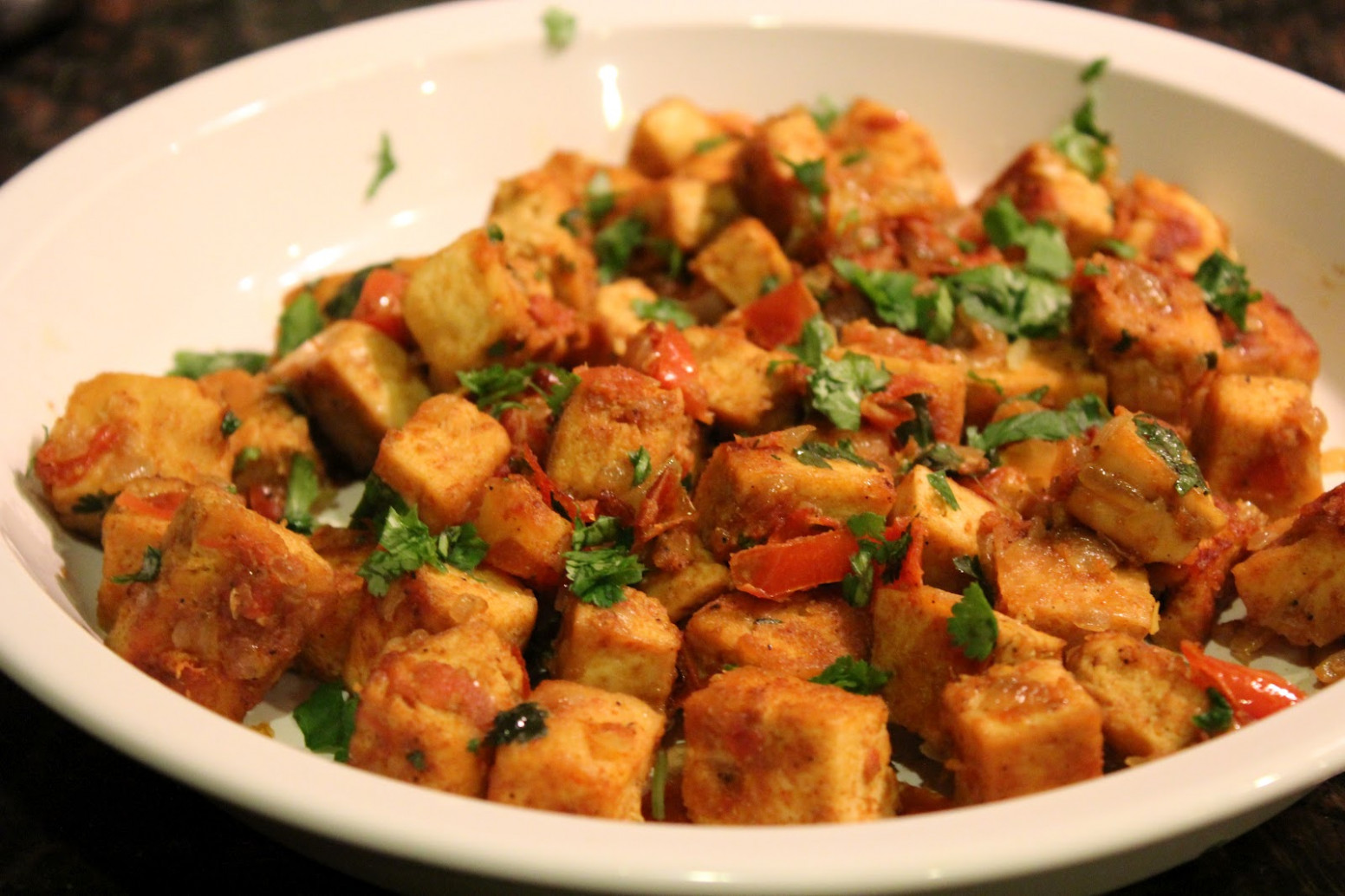 Indian Curried Tofu - quick lunch recipes indian vegetarian