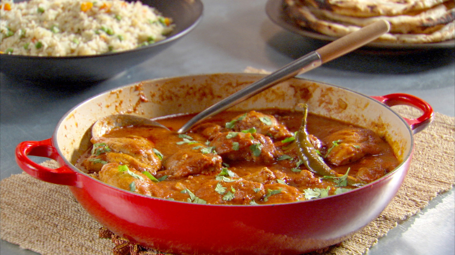 Indian-Spiced Chicken Recipe & Video | Martha Stewart - food recipes of india