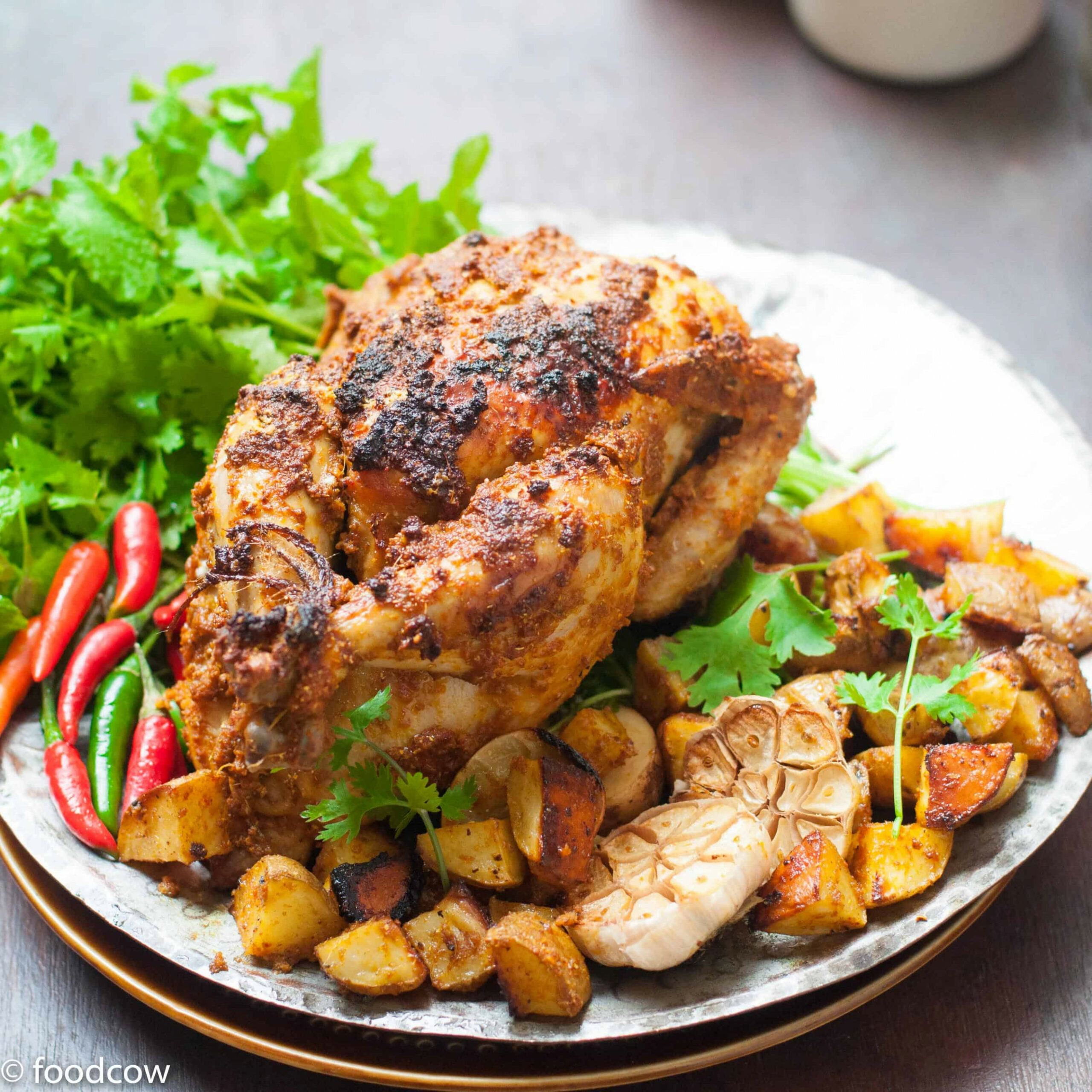 Indian Style Chicken Roast - Recipes Of Chicken Roast