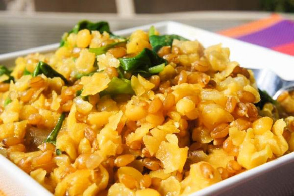 Indian-style kamut and yellow split pea curry | Recipe in ..