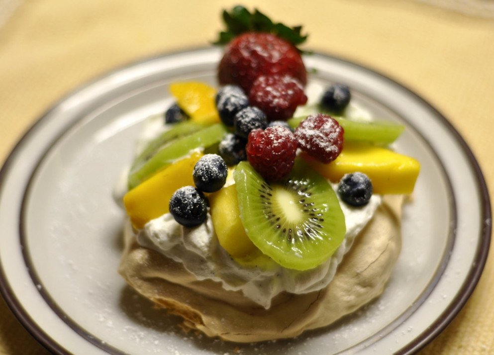 Individual Pavlovas with Fruit - australian food recipes