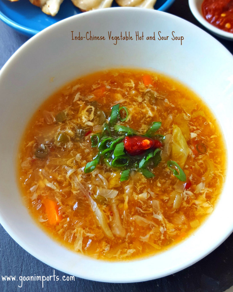 Indo-Chinese Hot and Sour Soup Recipe – Goan Recipes - recipe vegetarian hot and sour soup