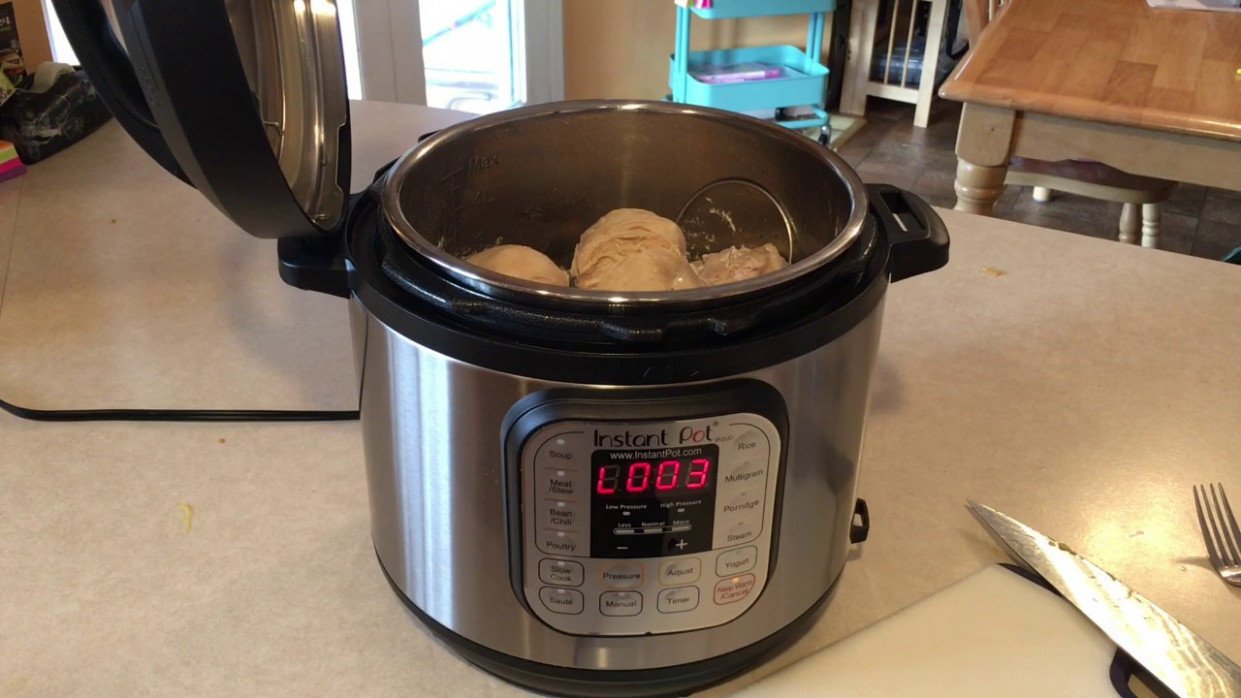 INSTANT POT 15- Frozen Chicken Breasts - pressure cooker xl chicken breast recipes