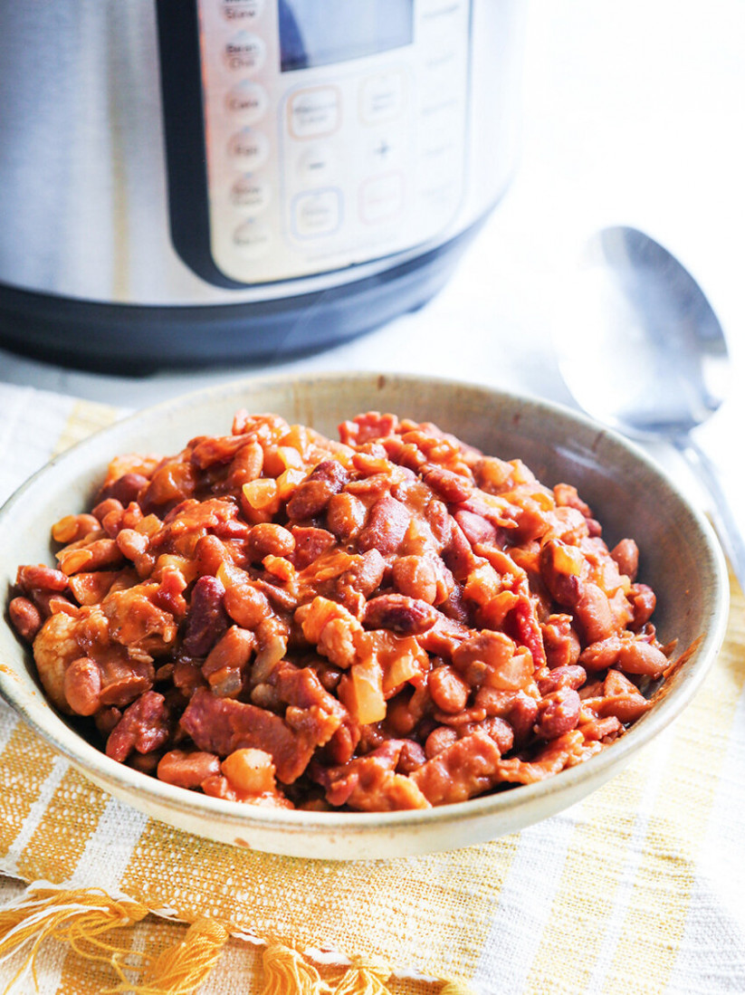 Instant Pot Baked Beans - recipes vegetarian baked beans