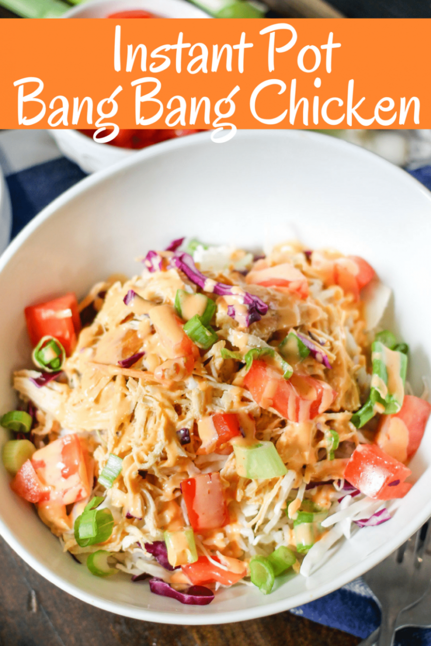 Instant Pot Bang Bang Chicken - recipes made with shredded chicken