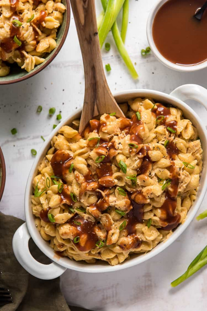Instant Pot BBQ Chicken Mac & Cheese - recipes leftover bbq chicken