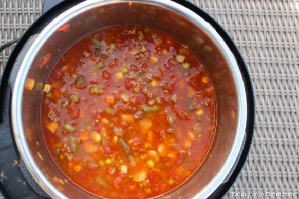Instant Pot Beef Vegetable Soup Recipe - Eating on a Dime - easy vegetable instant pot recipes
