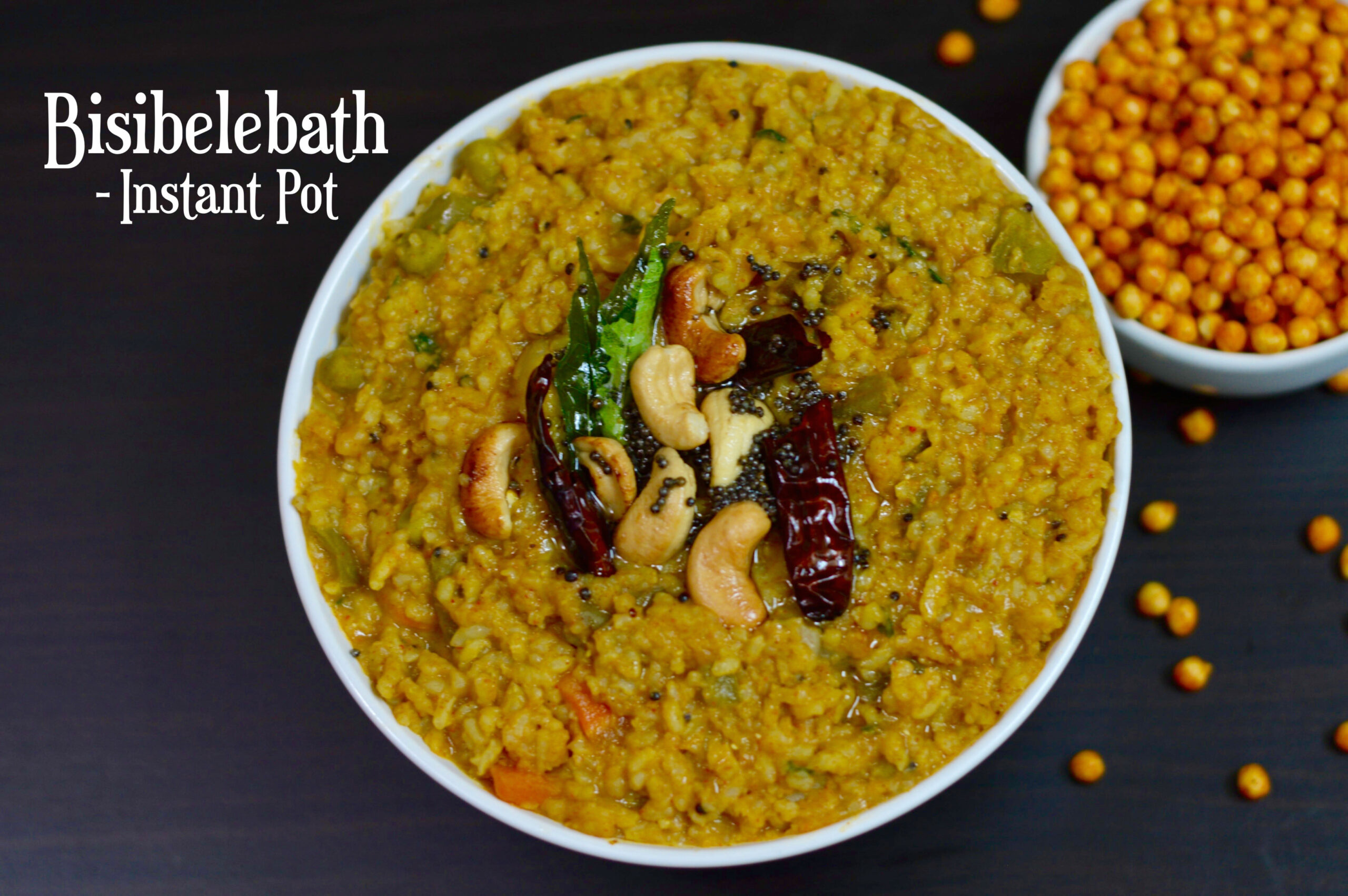 INSTANT POT Bisibelebath|Hot Lentil Rice - food recipes kannada