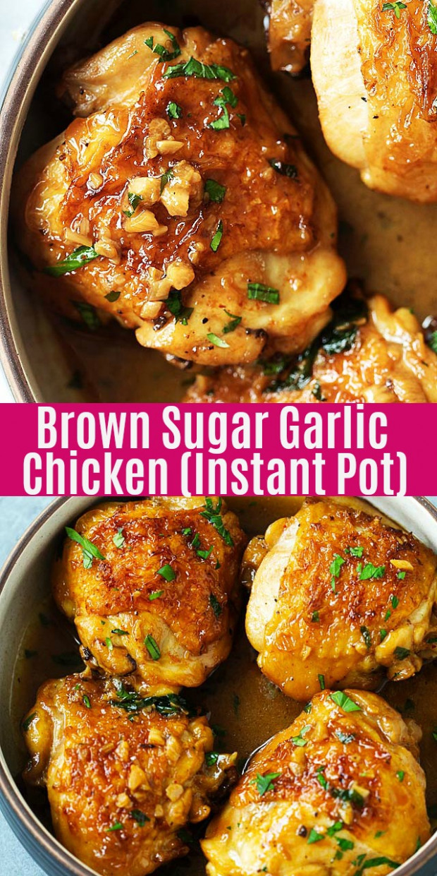 Instant Pot Brown Sugar Garlic Chicken Recipe - Pressure Cooker Xl Chicken Thigh Recipes