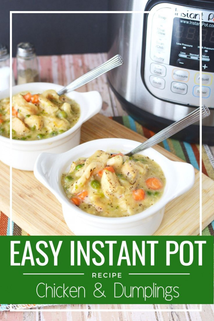 Instant Pot Chicken & Dumplings | Recipe | INSTA POT ️ ..
