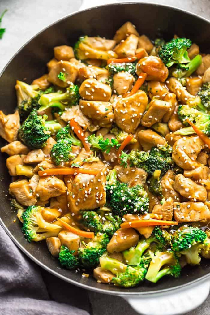 Instant Pot Chicken and Broccoli Stir Fry - Life Made Sweeter - chicken recipes stir fry