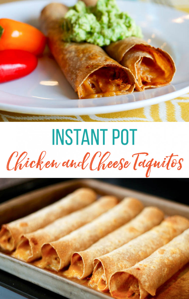 Instant Pot Chicken and Cheese Taquitos: Easy Chicken ..