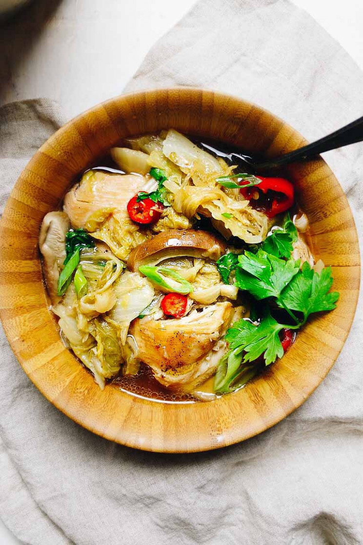 Instant Pot Chicken Cabbage Soup (Paleo, Whole10, Keto) - keto instant pot recipes chicken