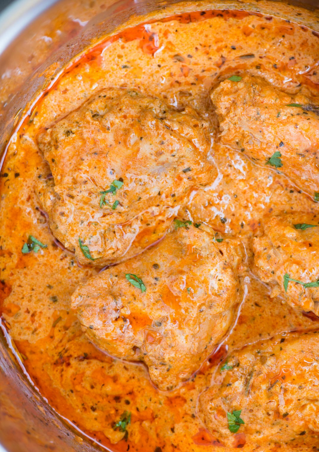 Instant Pot Chicken in Creamy tomato Sauce - chicken recipes with sauce