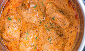 INSTANT POT CHICKEN IN CREAMY TOMATO SAUCE – The Flavours Of ..