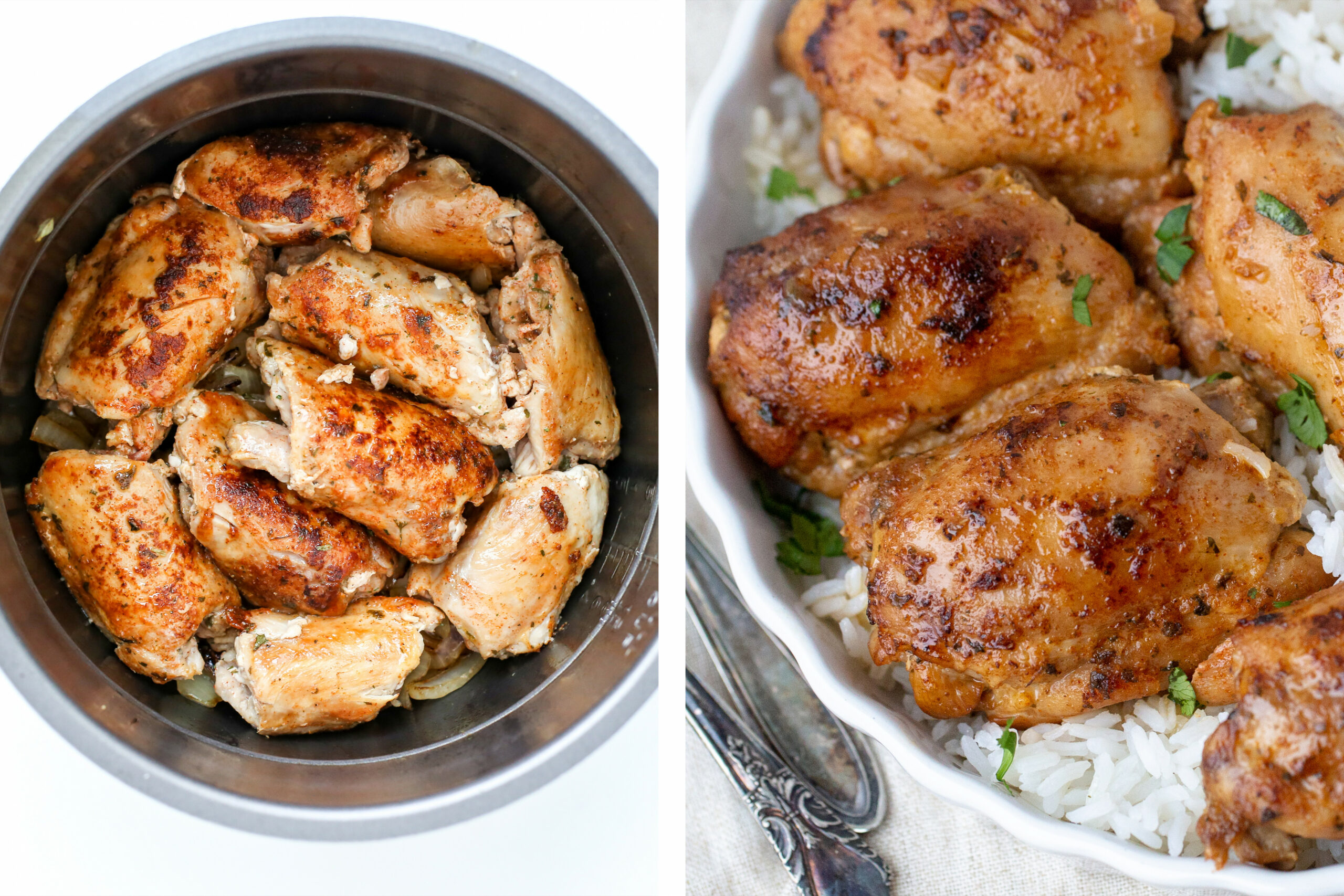 Instant Pot Chicken Thighs (Fresh Or Frozen) - Momsdish - Pressure Cooker Xl Chicken Thigh Recipes