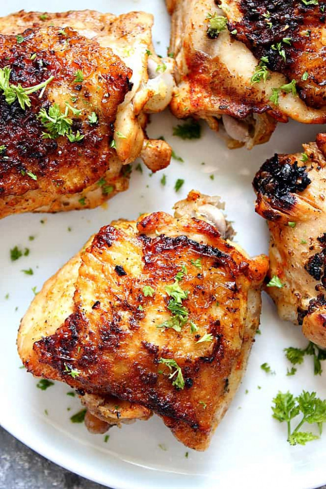Instant Pot Chicken Thighs Recipe - Crunchy Creamy Sweet - recipes easy chicken thighs