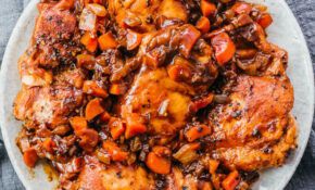 Instant Pot Chicken Thighs With Balsamic Sauce – Savory Tooth – Quick Chicken Thigh Recipes