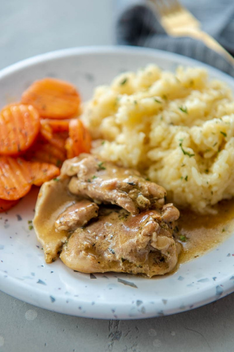 Instant Pot Chicken Thighs with Gravy - instant pot recipes chicken thighs