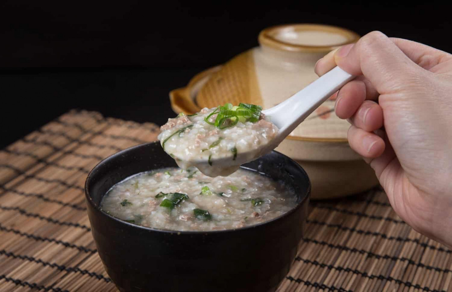Instant Pot Congee with Minced Beef - recipes with mince healthy