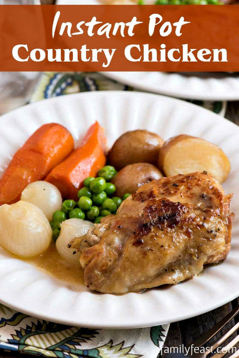Instant Pot Country Chicken - A Family Feast - recipes using cooked chicken