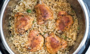INSTANT POT GARLIC HERB CHICKEN AND RICE – Chicken Recipes For Instant Pot