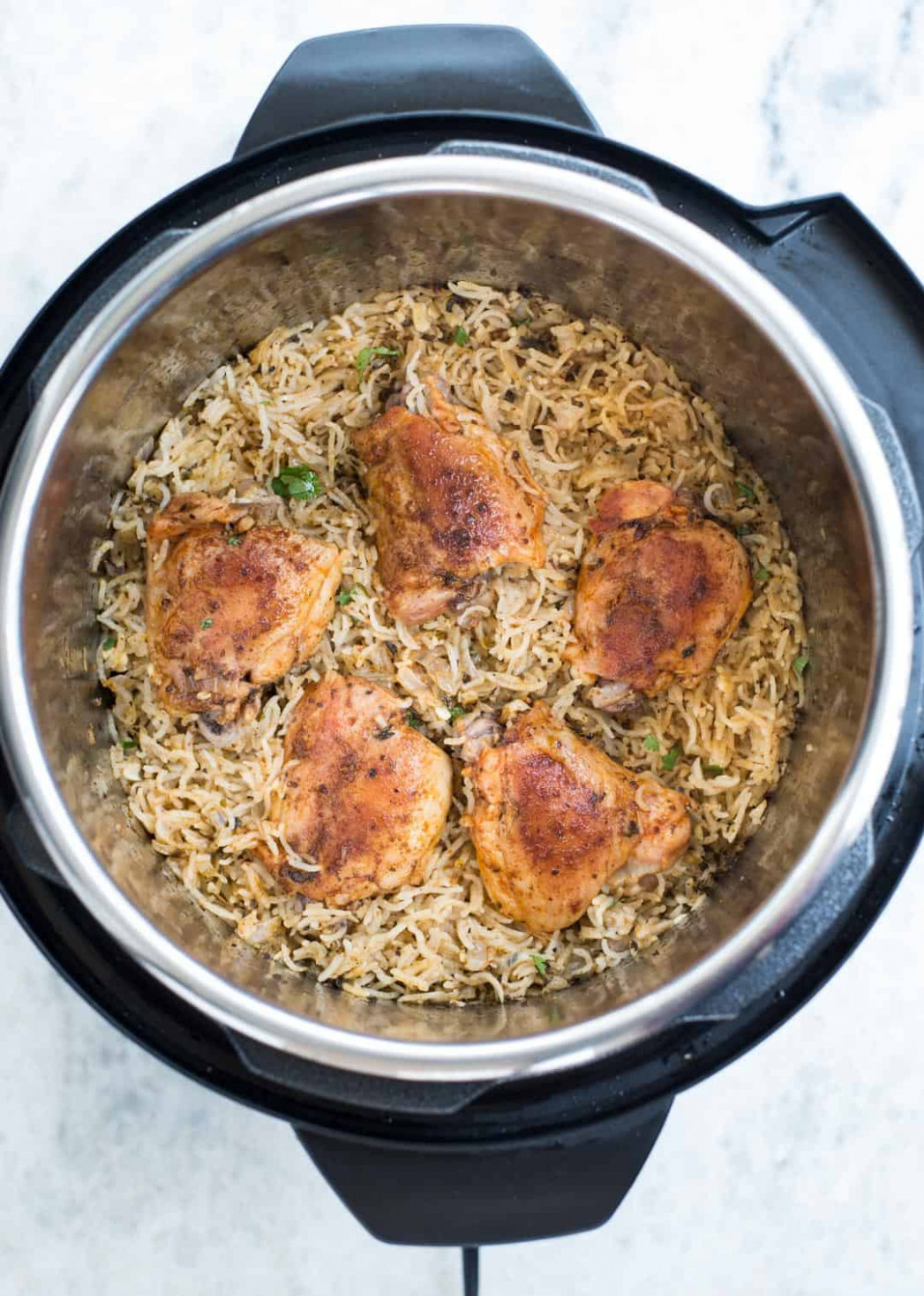 INSTANT POT GARLIC HERB CHICKEN AND RICE - recipes instant pot chicken thighs