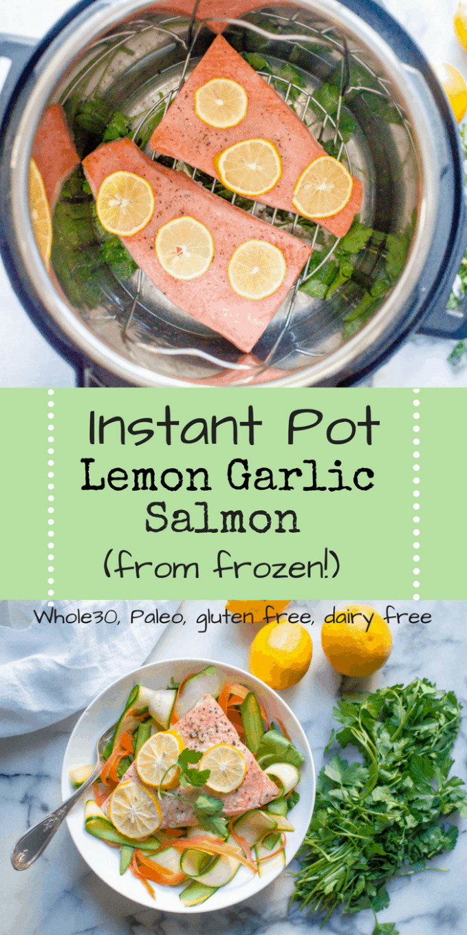 INSTANT POT LEMON GARLIC SALMON (FROM FROZEN!) - Top Rated Healthy Instant Pot Recipes