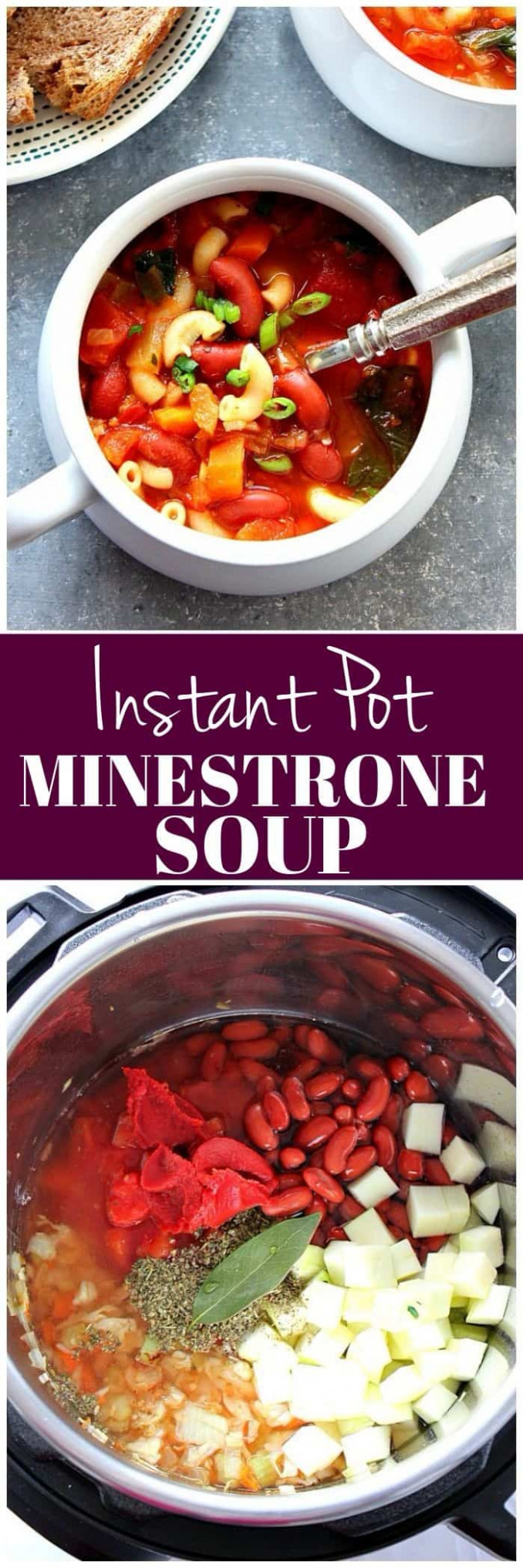 Instant Pot Minestrone Soup Recipe - Crunchy Creamy Sweet - easy vegetable instant pot recipes