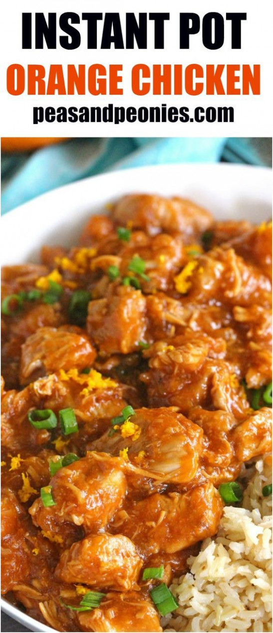 Instant Pot Orange Chicken is healthier than takeout and ..